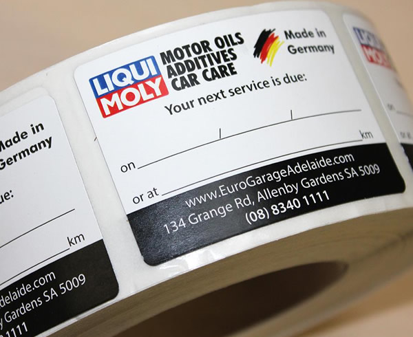 Thermal Labels - Liqui Moly Motor Oils