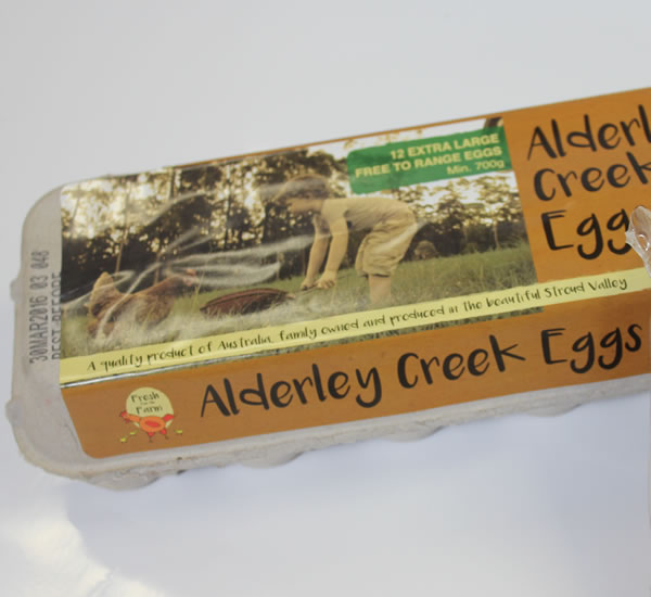 Carton Labels - Alderley Creek Eggs