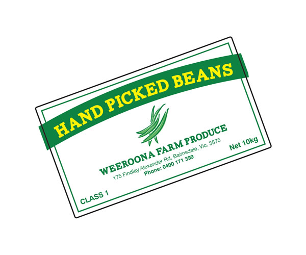 Fruit & Vegetable Labels - Weeroona Farm Produce