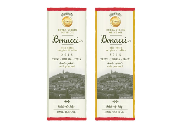 Olive Oil Labels - Bonacci