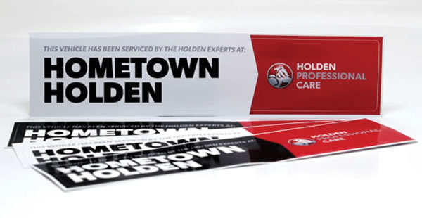 Rear Window Labels - Holden