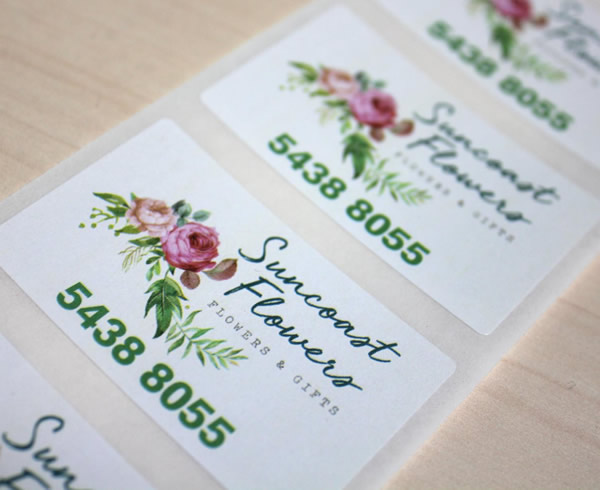 Suncoast Flowers Labels