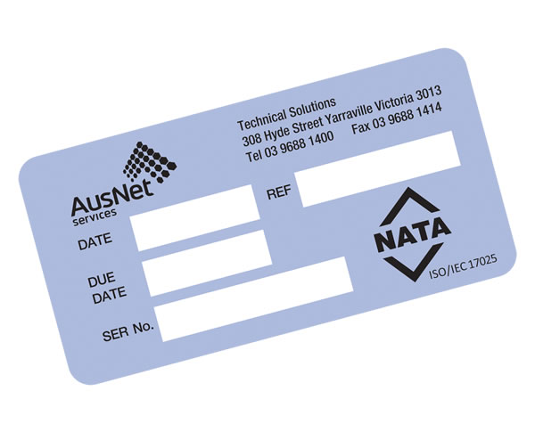Technology Labels - Ausnet Service NATA
