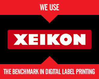We use Xeikon, the benchmark in digital label printing.